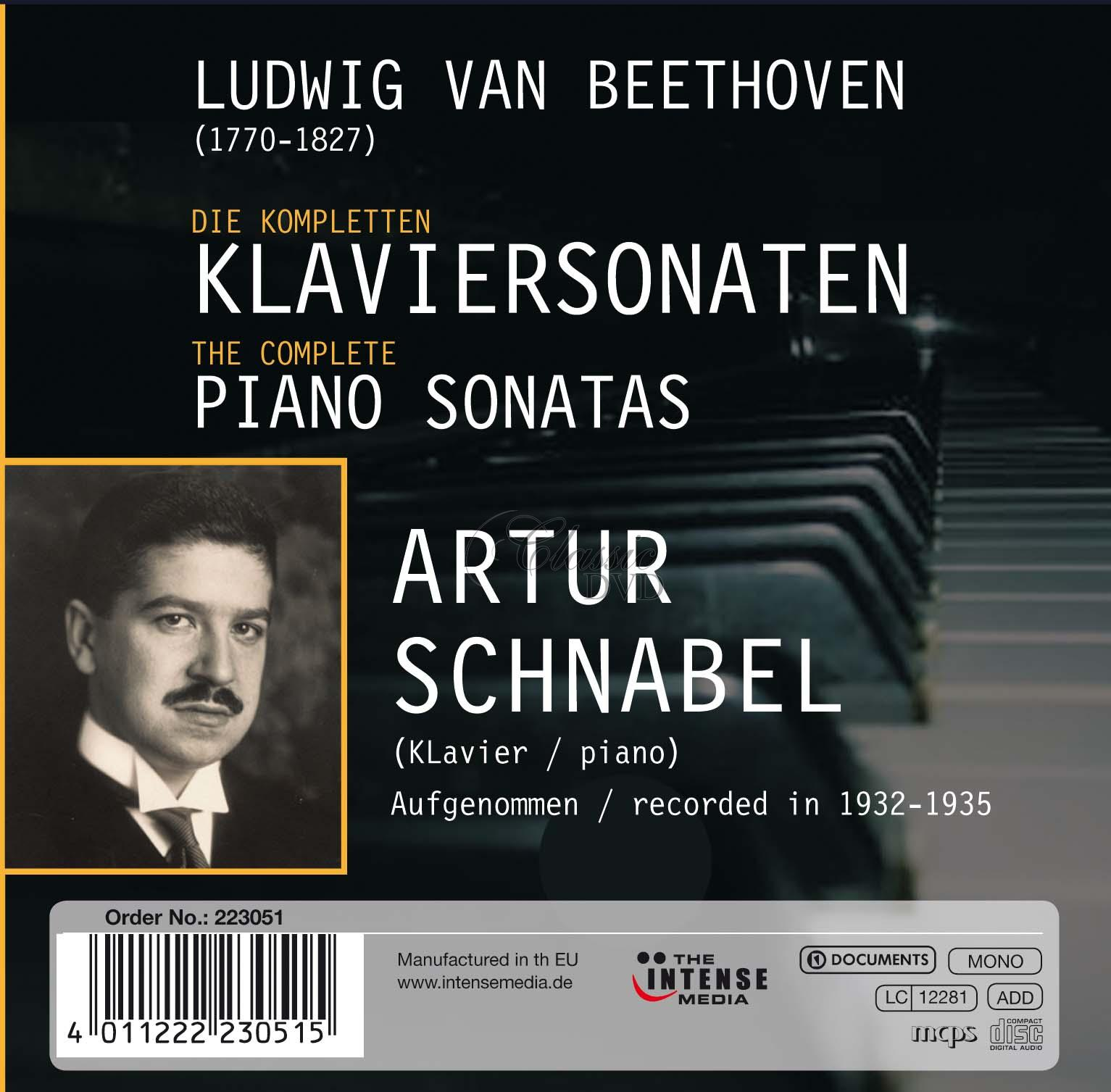 ARTUR SCHNABEL: Plays Beethoven - Piano sonatas (10CD)