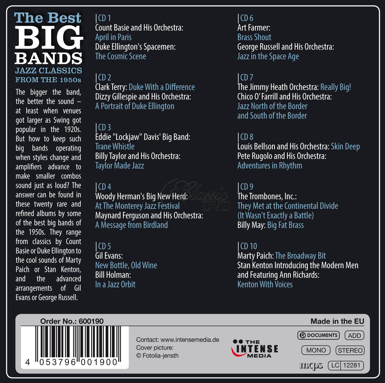 Best Big Bands - Classics from the 1950s - 20 Original Albums (10CD)