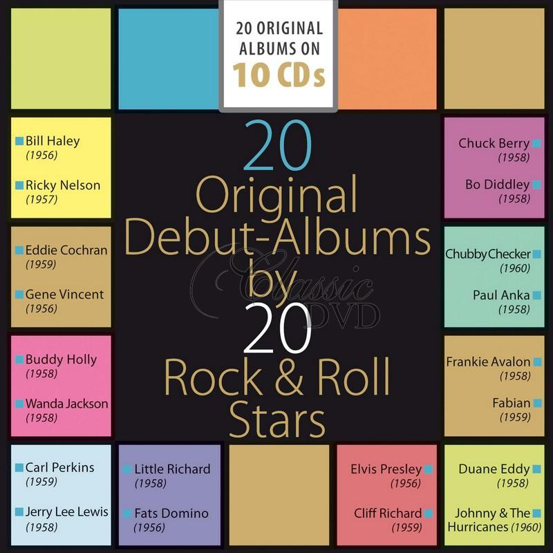 20 Original Debut Albums By 20 Rock & Roll Stars (10CD)