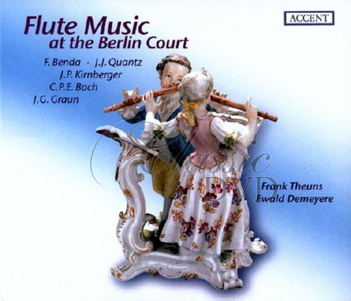 BENDA-QUANTZ-CPE BACH: Flute Music at the Berlin Court (CD)