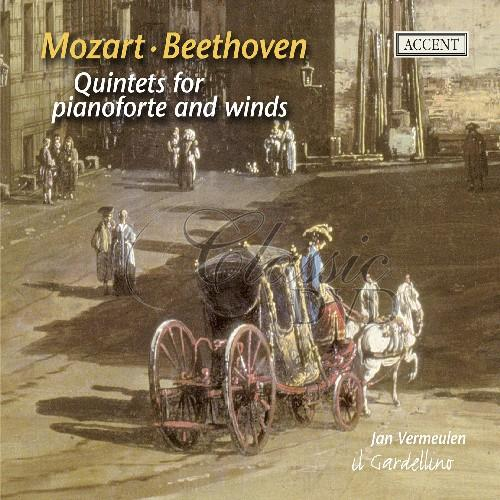 MOZART-BEETHOVEN: Quintets for pianoforte & winds (CD)