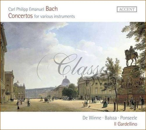 C.P.E. Bach: Concertos for various instruments (CD)