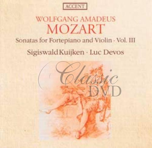 MOZART,W.A.: Sonatas for fortepiano and violin, vol III (CD)