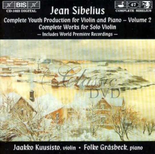 Sibelius - Complete Youth Production for Violin and Piano, Vol.2  (CD)