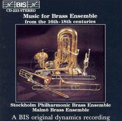 Music for Brass Ensemble from the 16th - 18th centuries (CD)