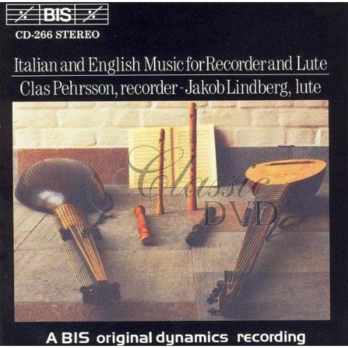 ITALIAN & ENGLISH MUSIC: Recorder and Lute (CD)