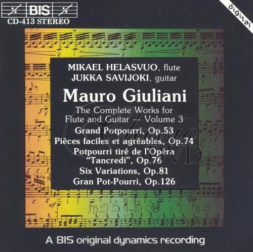 GIULIANI,M.: Complete works for Flute & Guitar Vol.3 (CD)