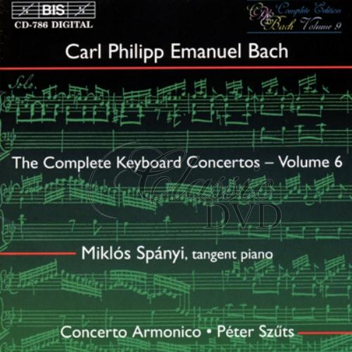 C.P.E.BACH: Keyboard Concertos, Vol.06 [Spányi] (CD)