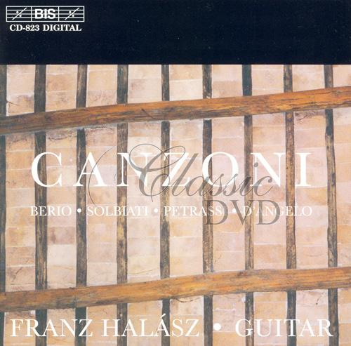 CANZONI: Italian Music for Guitar (CD)