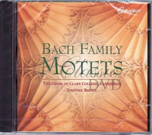 BACH FAMILY: Motety (Clare College Choir) (CD)