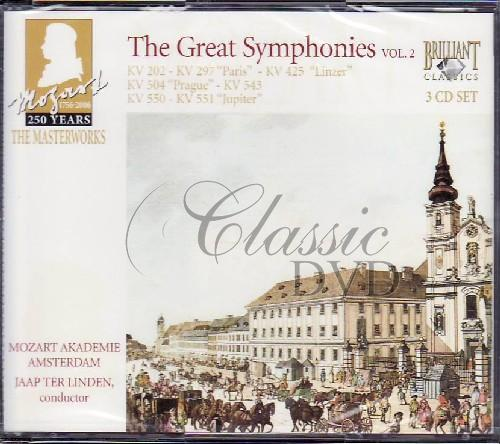 MOZART,W.A.: Great Symphonies Vol.2 (Jaap Ter Linden) (3CD)