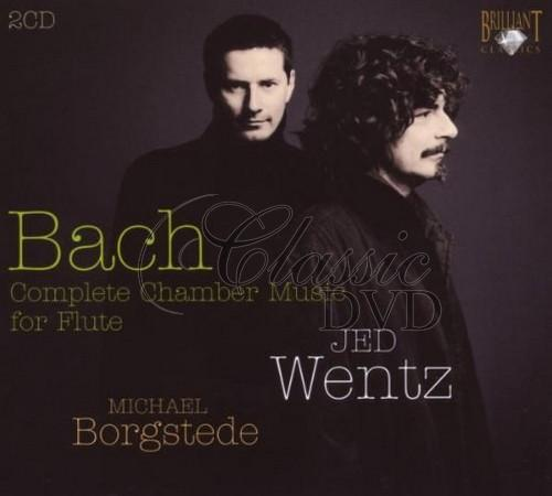 BACH,J.S.: Chamber music for flute. Jed Wentz, Michael Borgstede (2CD)