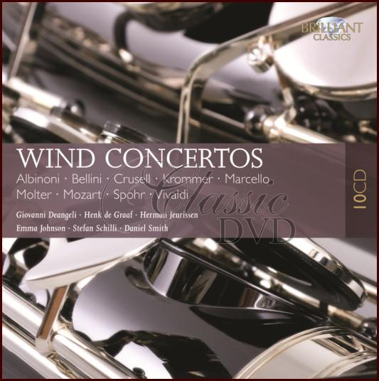 WIND CONCERTOS: The Best Of - DÁRKOVÁ EDICE (10CD)