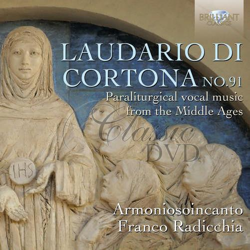 LAUDARIO DI CORTONA No.91 - Paraliturgical vocal music from the Middle Ages (4CD)