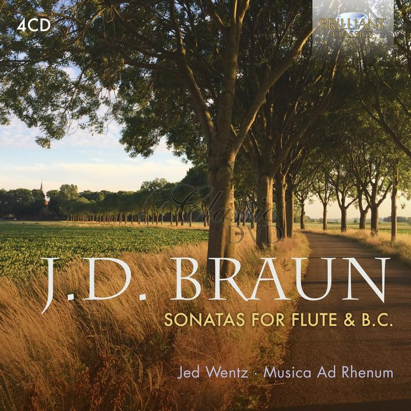 J.D. BRAUN: Sonatas for Flute and B.c.: Musica Ad Rhenum, Jed Wentz (4CD)