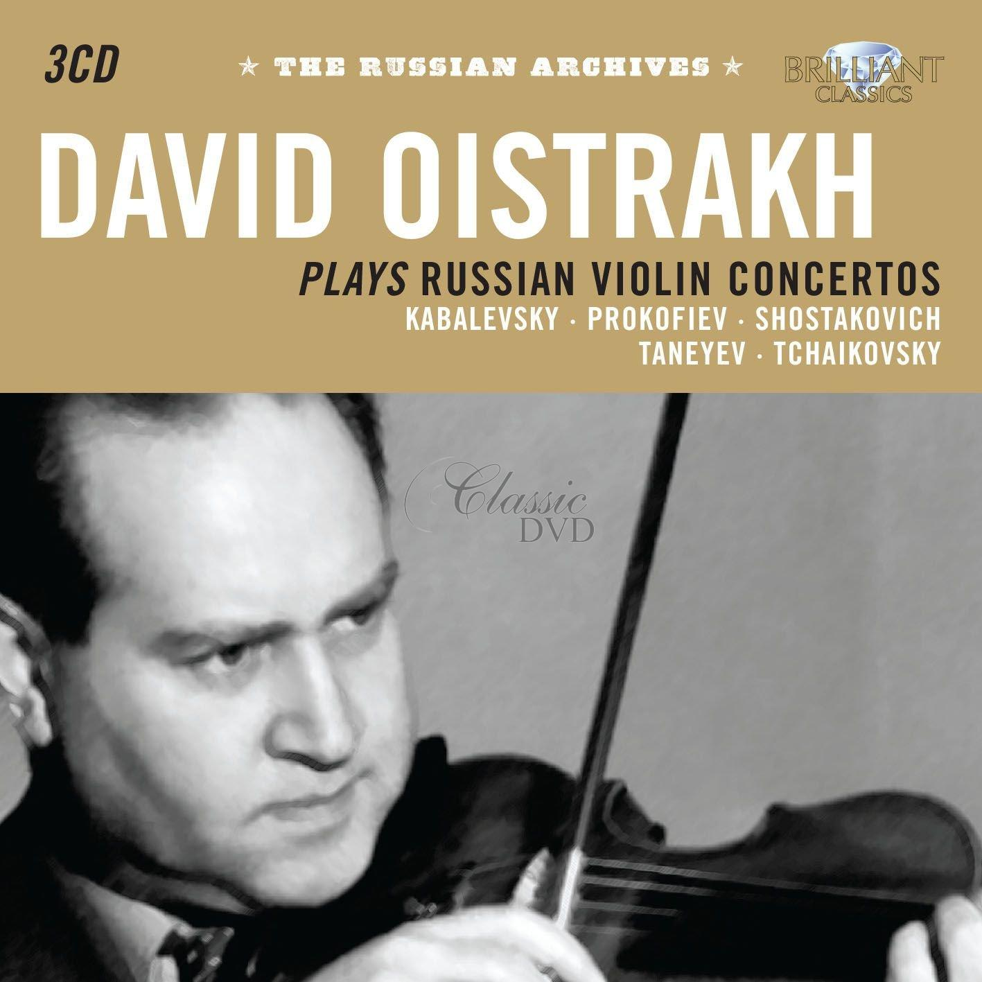 DAVID OISTRAKH: Oistrakh plays Russian Violin Concertos (3CD)