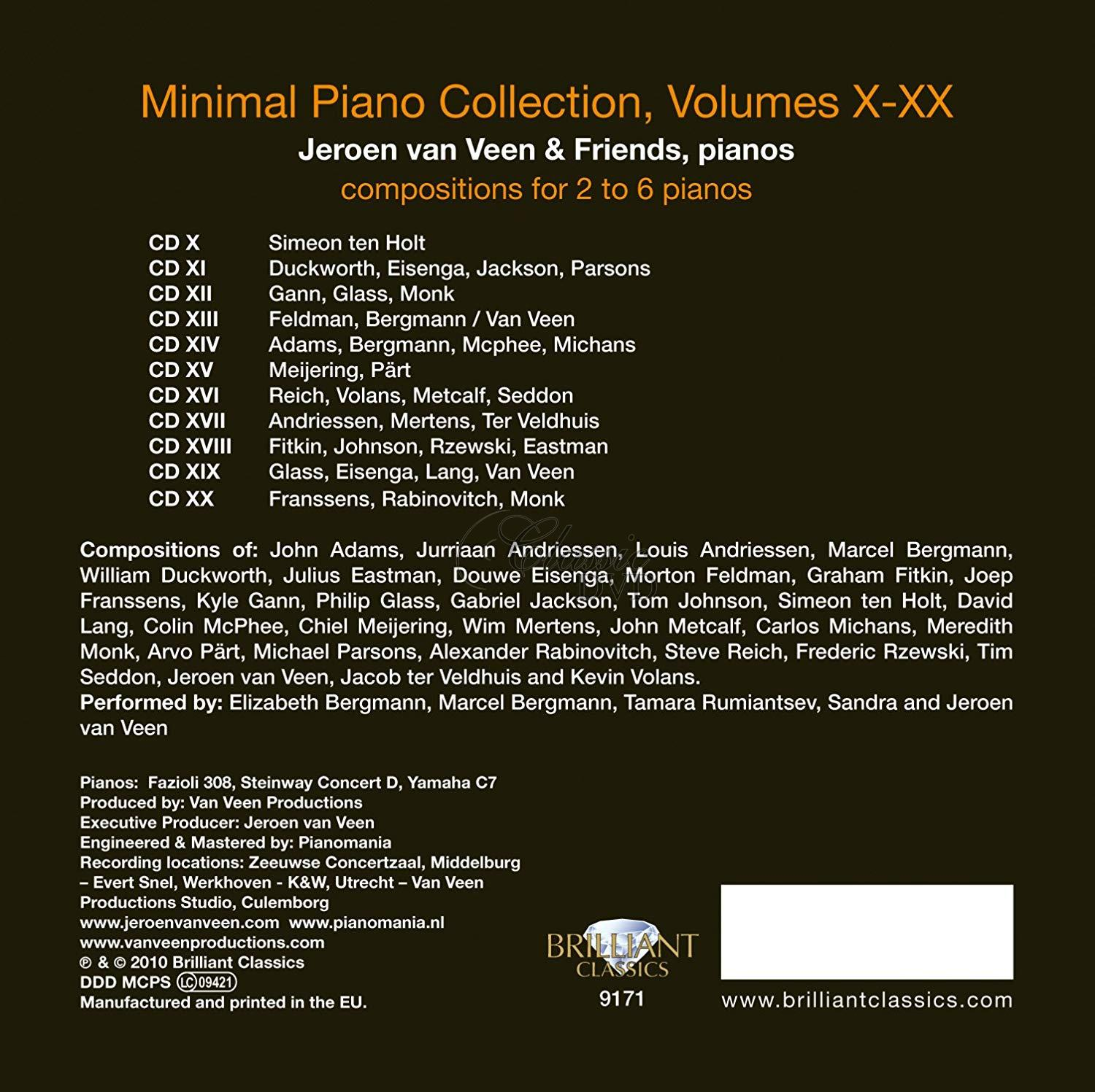 MINIMAL PIANO COLLECTION Vol.2. Jeroen van Veen (11CD)