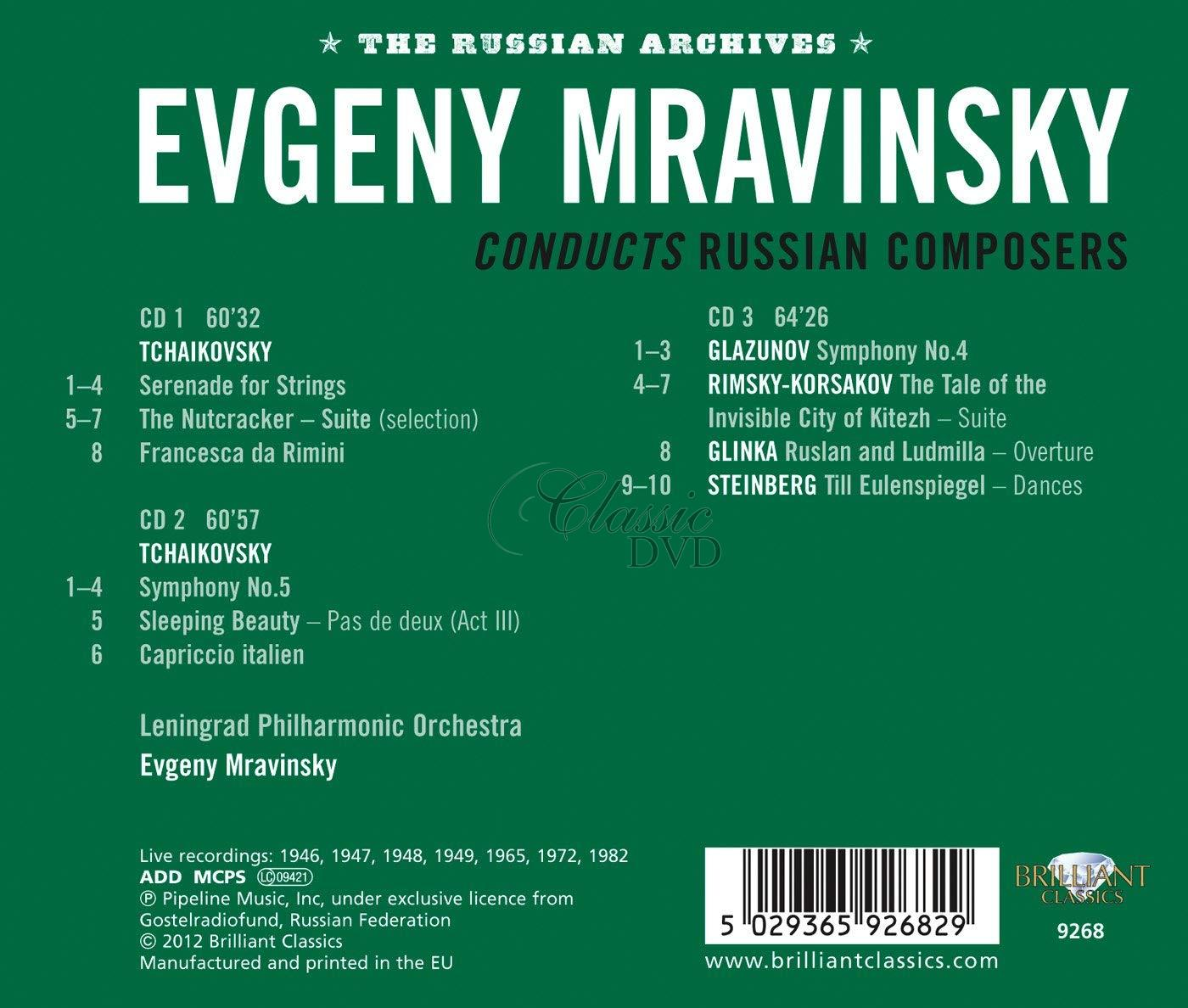 Evgeny Mravinsky conducts Russian composers (3CD)