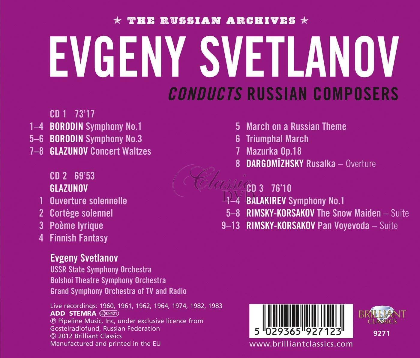 Evgeny Svetlanov conducts Russian composers (3CD)