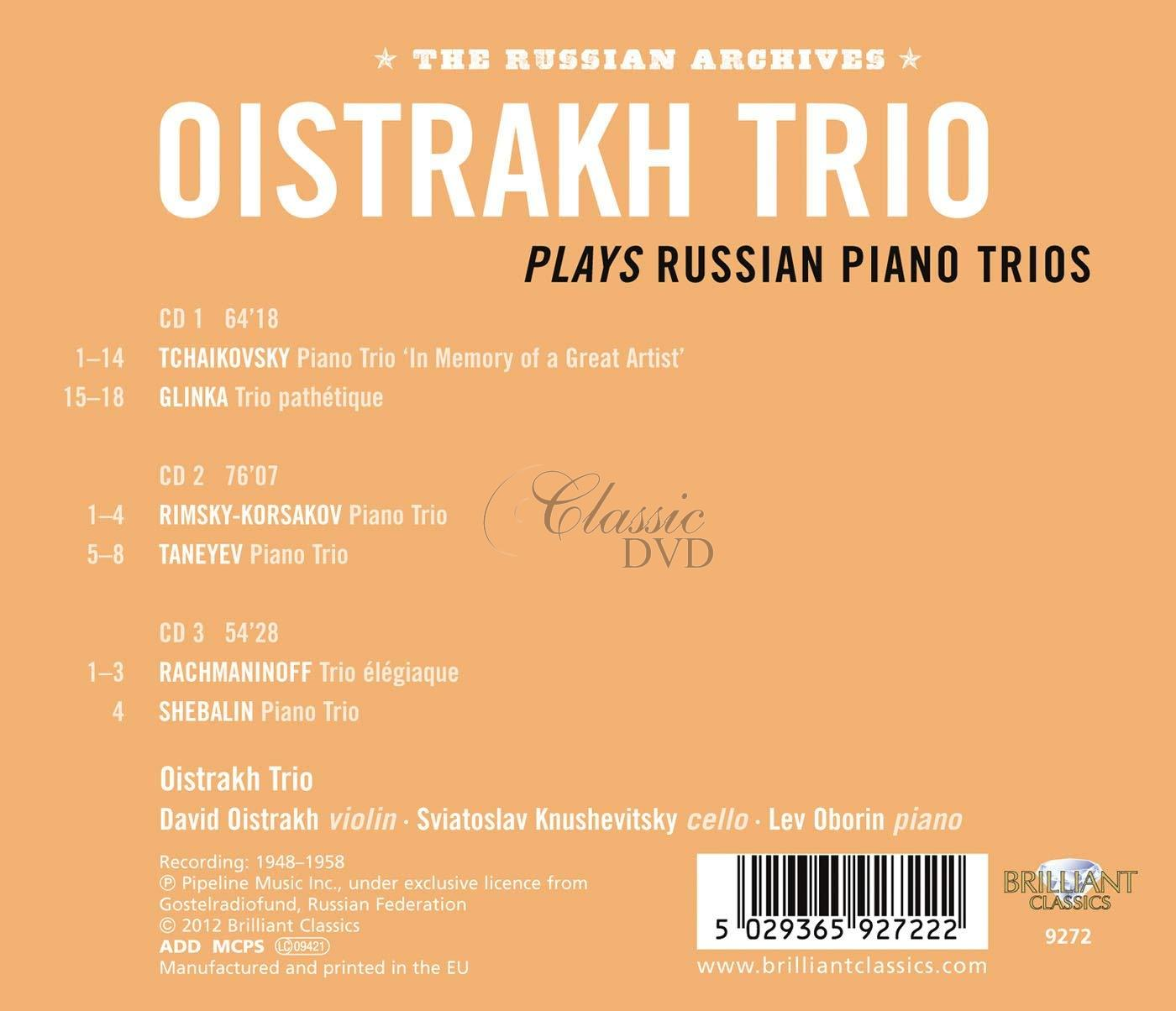 Oistrakh Trio plays Russian Piano Trios (3CD)