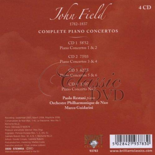 FIELD,J.: Complete piano concertos (4CD)
