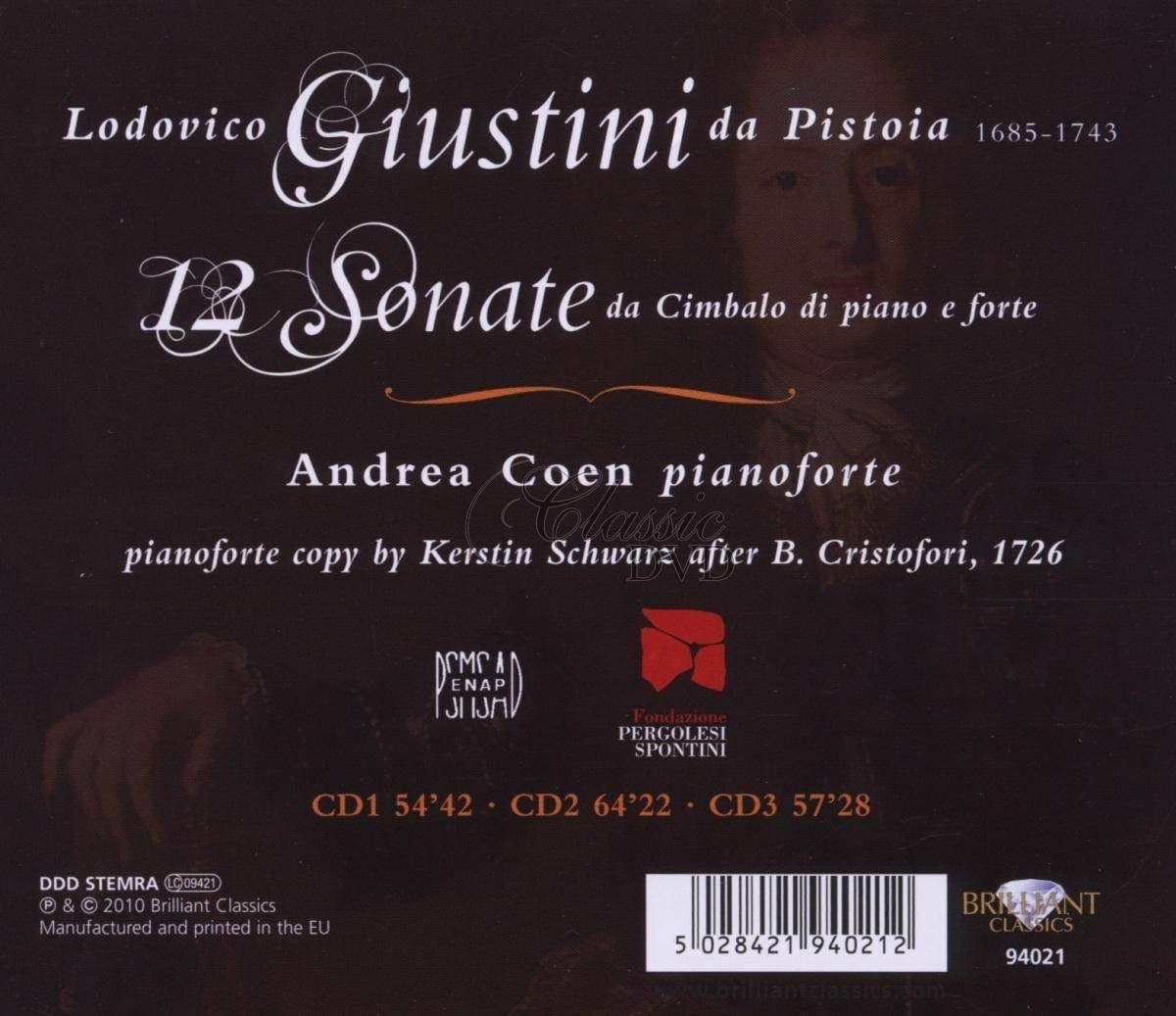 GIUSTINI,L.: 12 Sonatas for pianoforte (3CD)