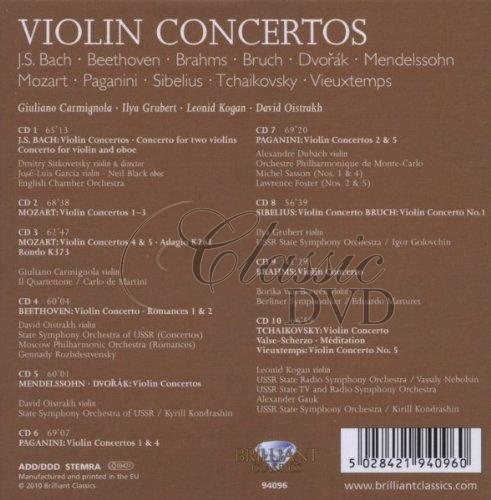VIOLIN CONCERTOS: The Best Of - DÁRKOVÁ EDICE (10CD)