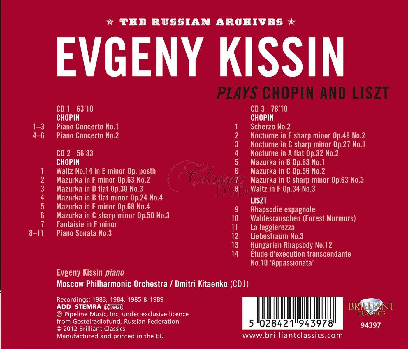 EVGENY KISSIN PLAYS CHOPIN AND LISZT (3CD)