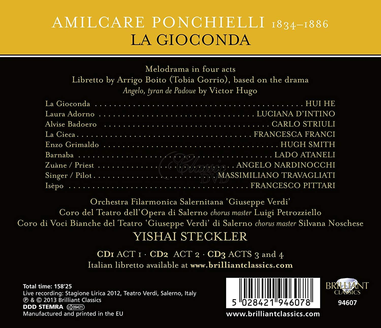 Ponchielli: La Giaconda (3CD)