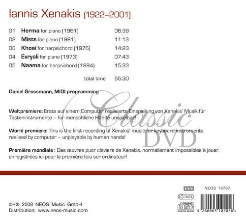 Xenakis, Iannis - Music for Keyboard Instruments (realised by computer) (CD)