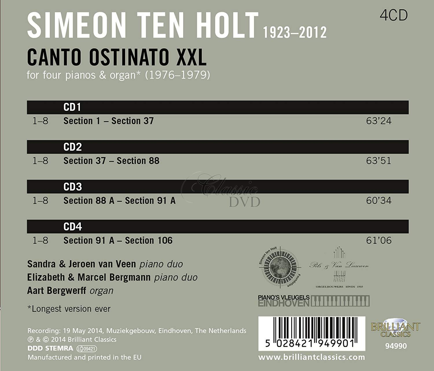 Ten Holt: Canto Ostinato XXL (4CD)