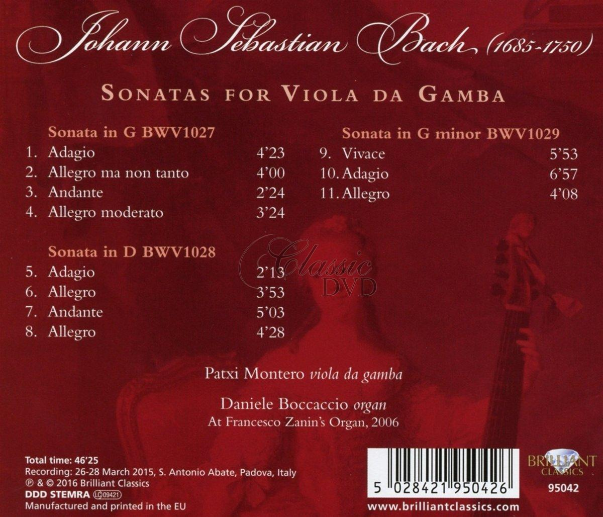 J.S. BACH: Sonatas for Viola da Gamba and Organ (CD)