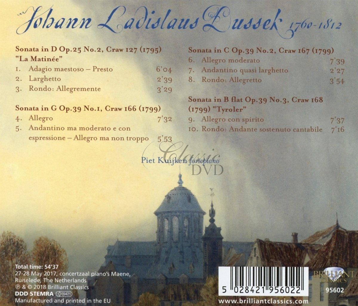 DUSSEK: Sonatas Op.39 & Op.25 No.2 (CD)