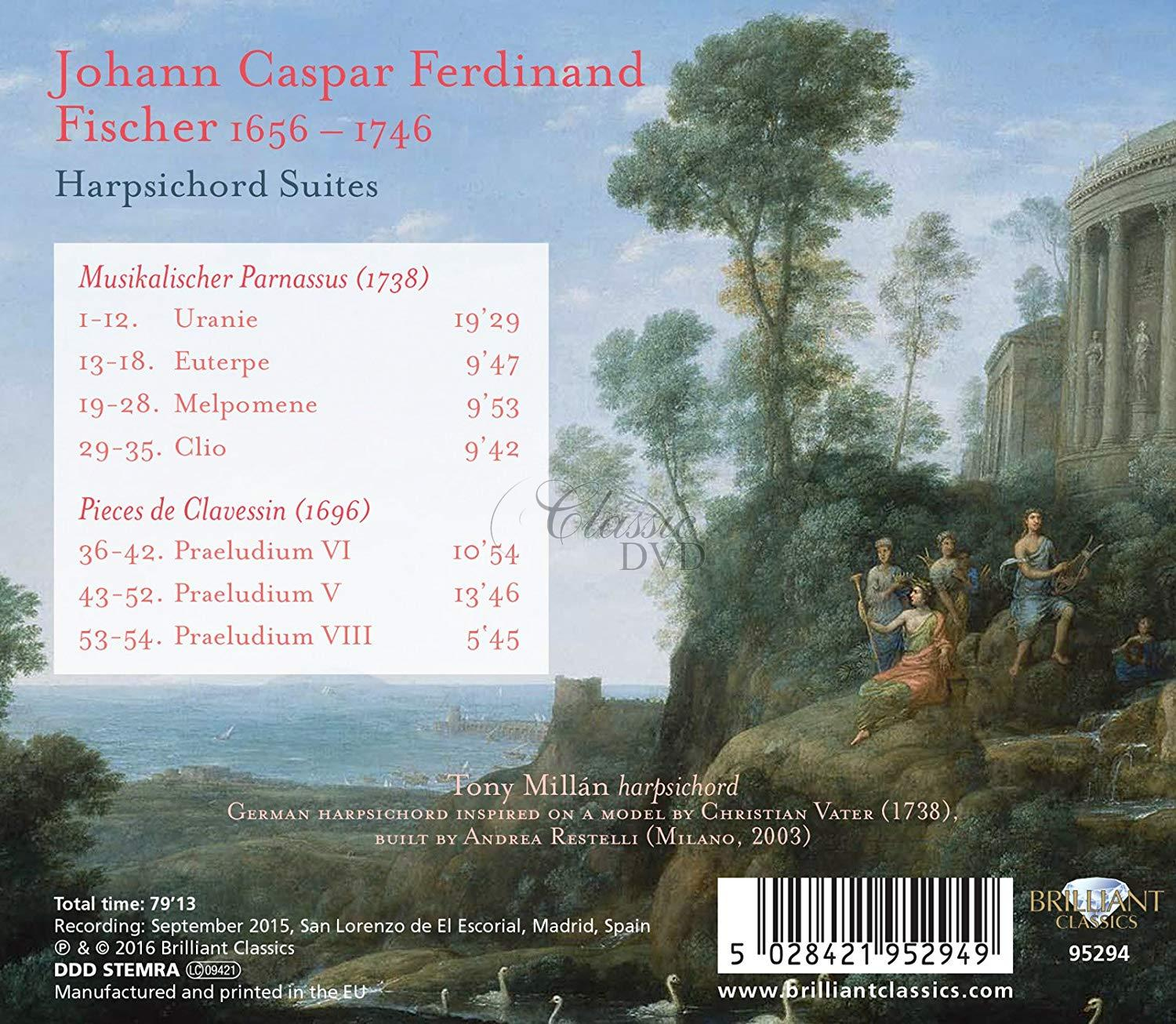 J.C.F. FISCHER: Harpsichord Suites (CD)