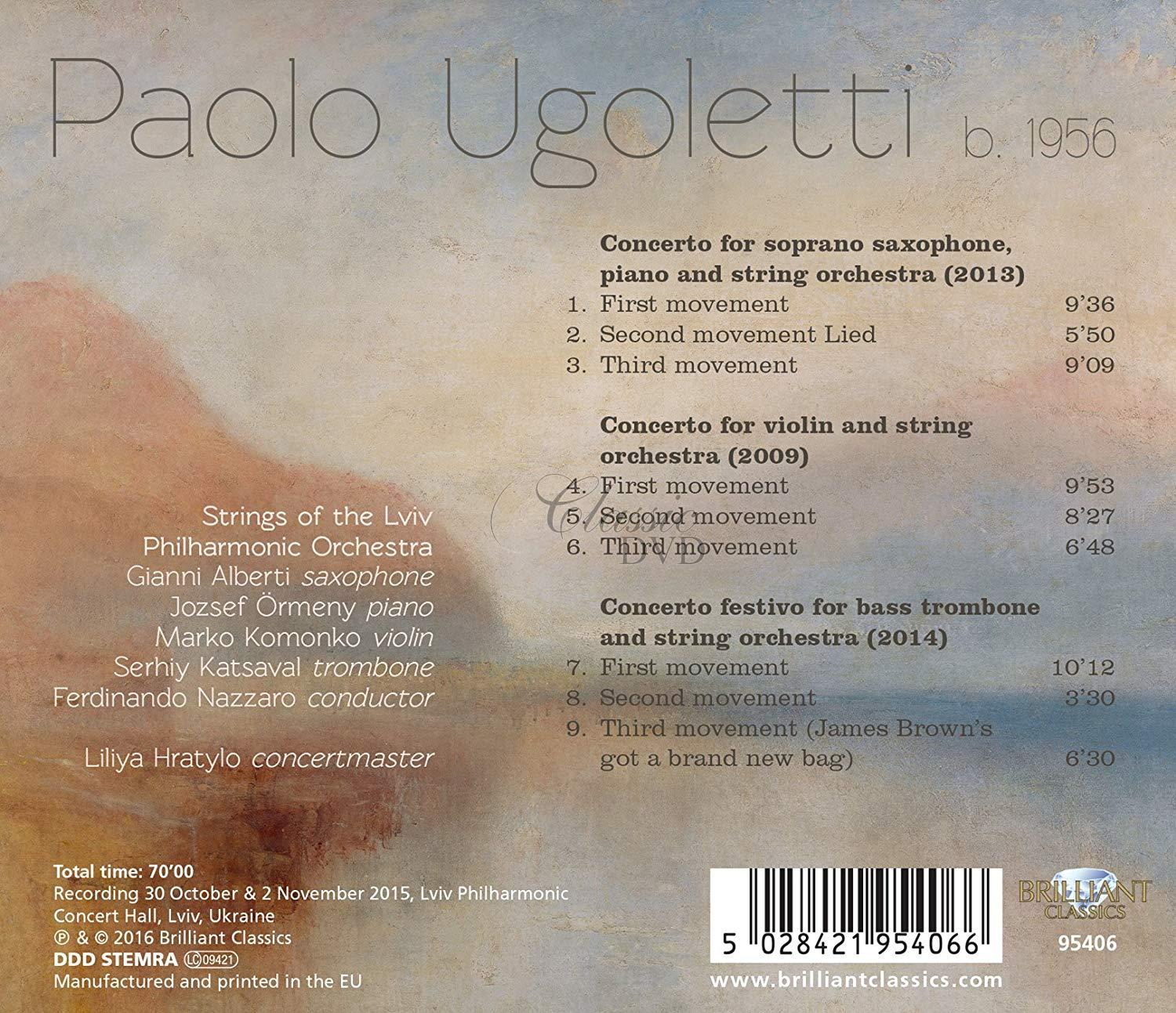 UGOLETTI: Three Concertos (CD)