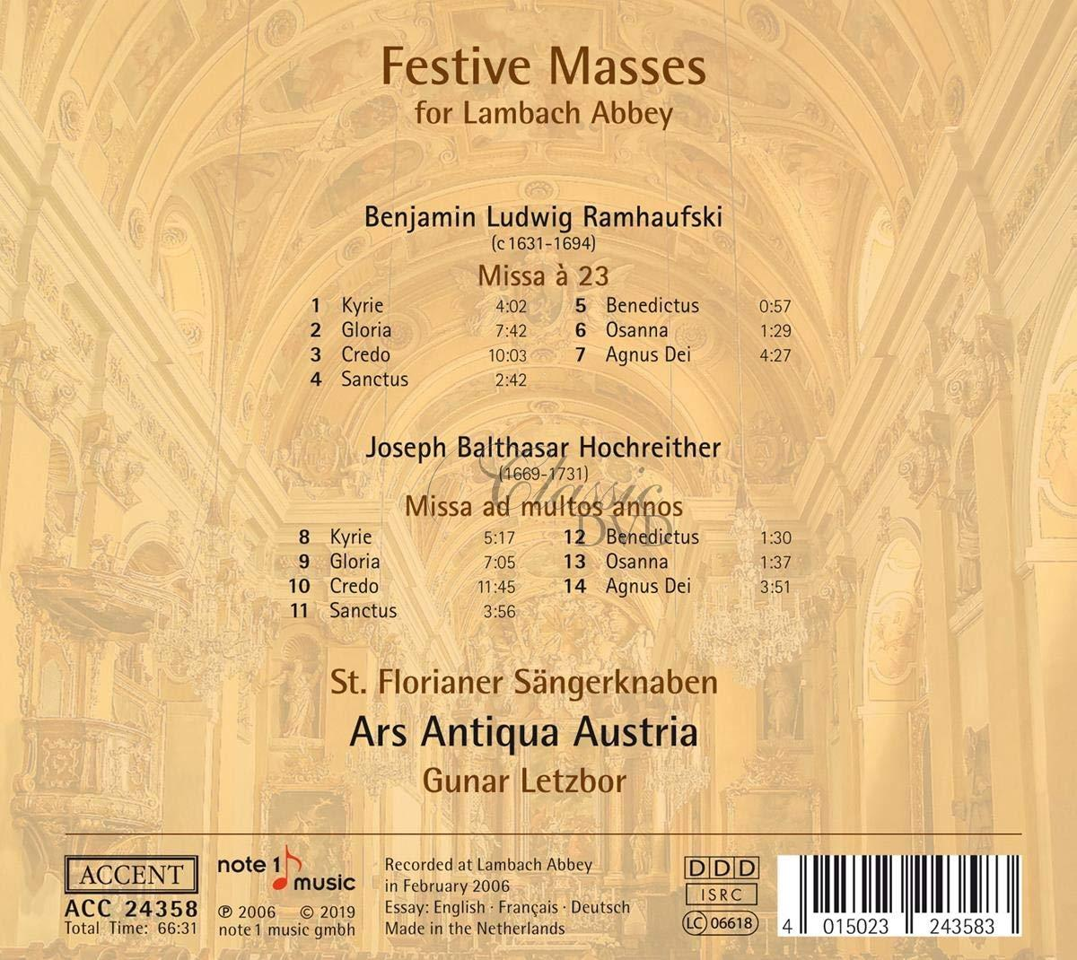 Ramhaufski / Hochreither: Festive Masses (CD)