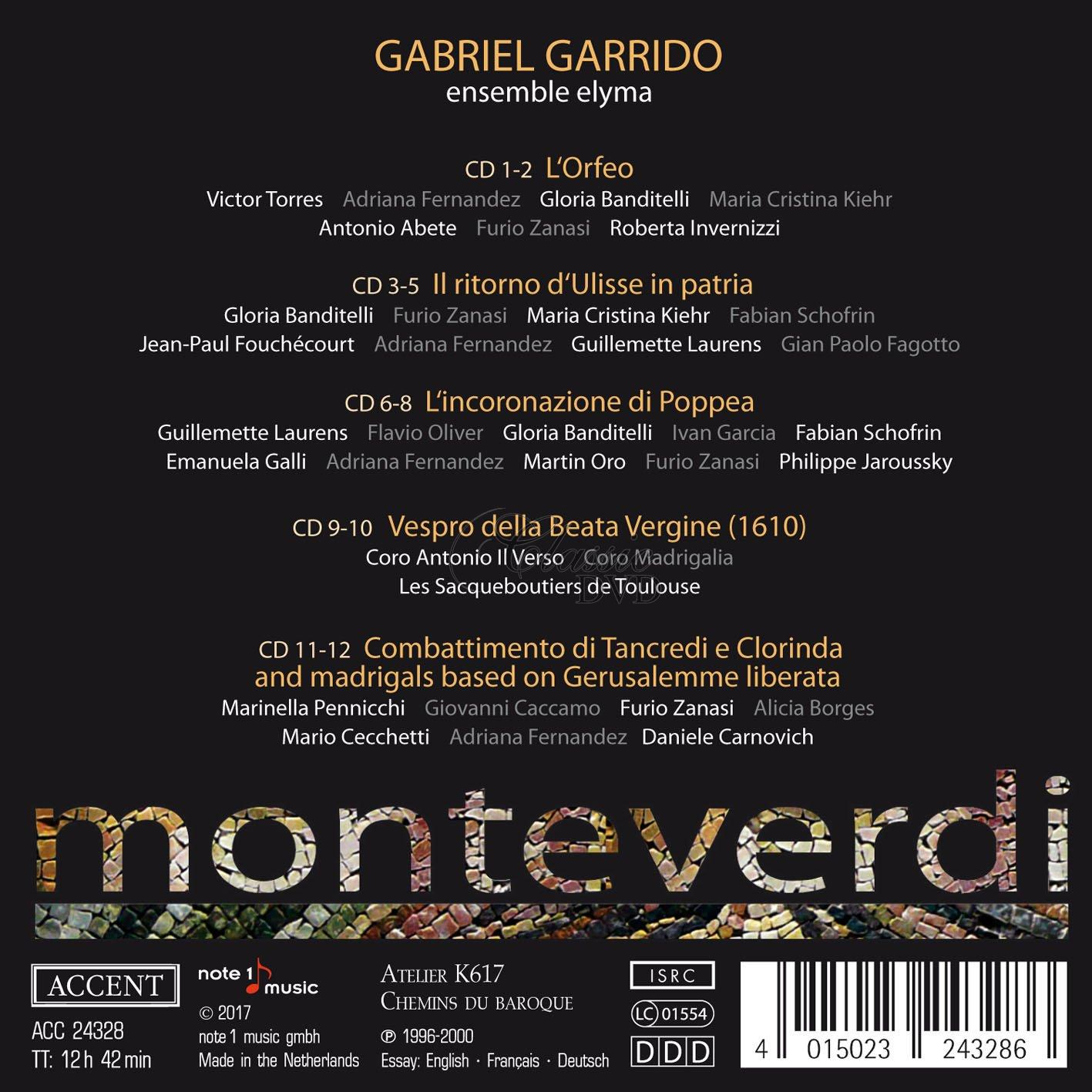 Monteverdi: The Operas and Marian Vespers (12CD)
