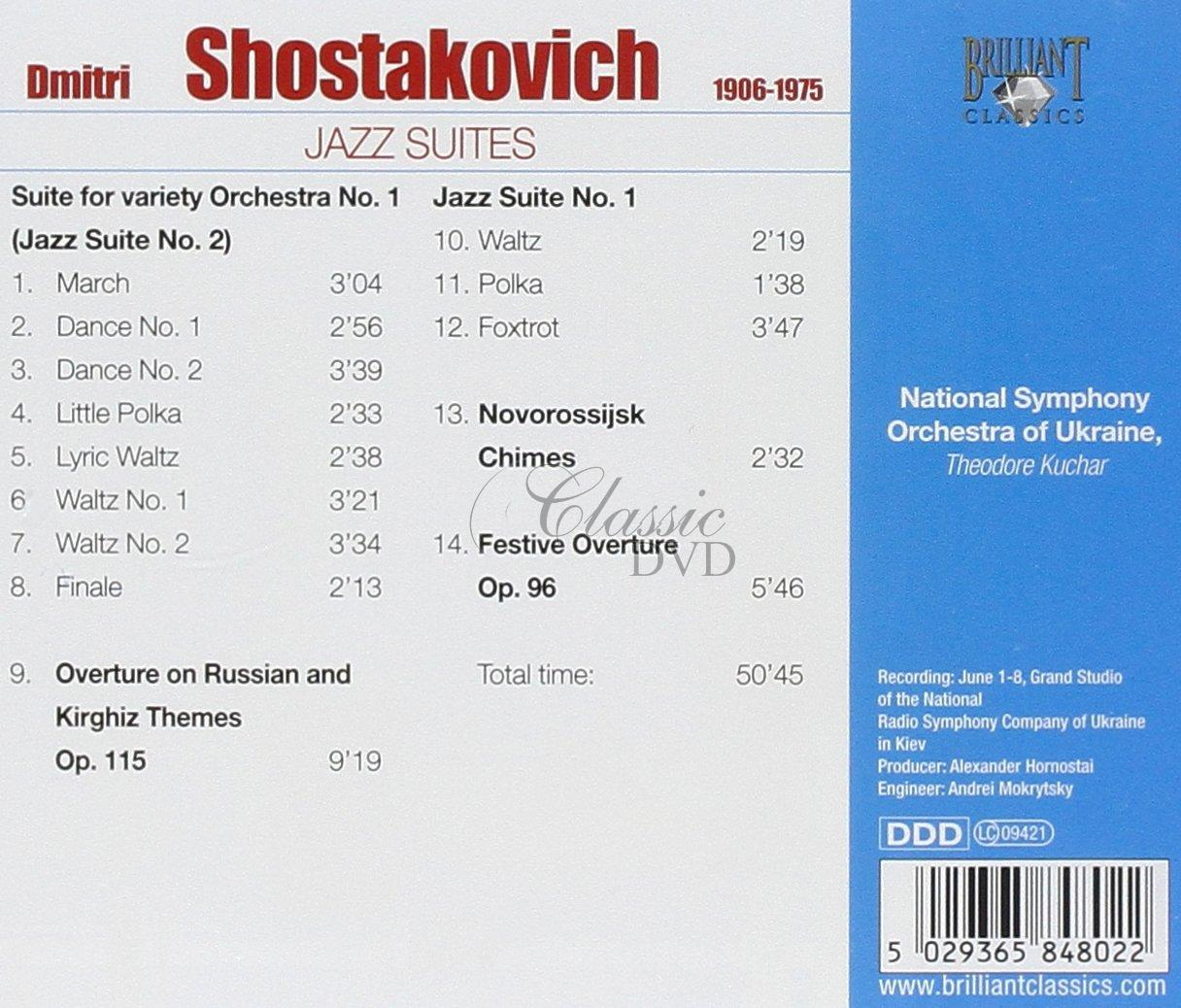 ŠOSTAKOVIČ,D.: Jazz suites (CD)