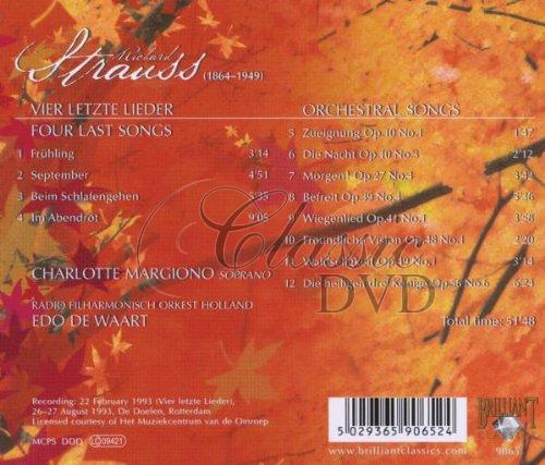 STRAUSS,R.: Four Last Songs (CD)