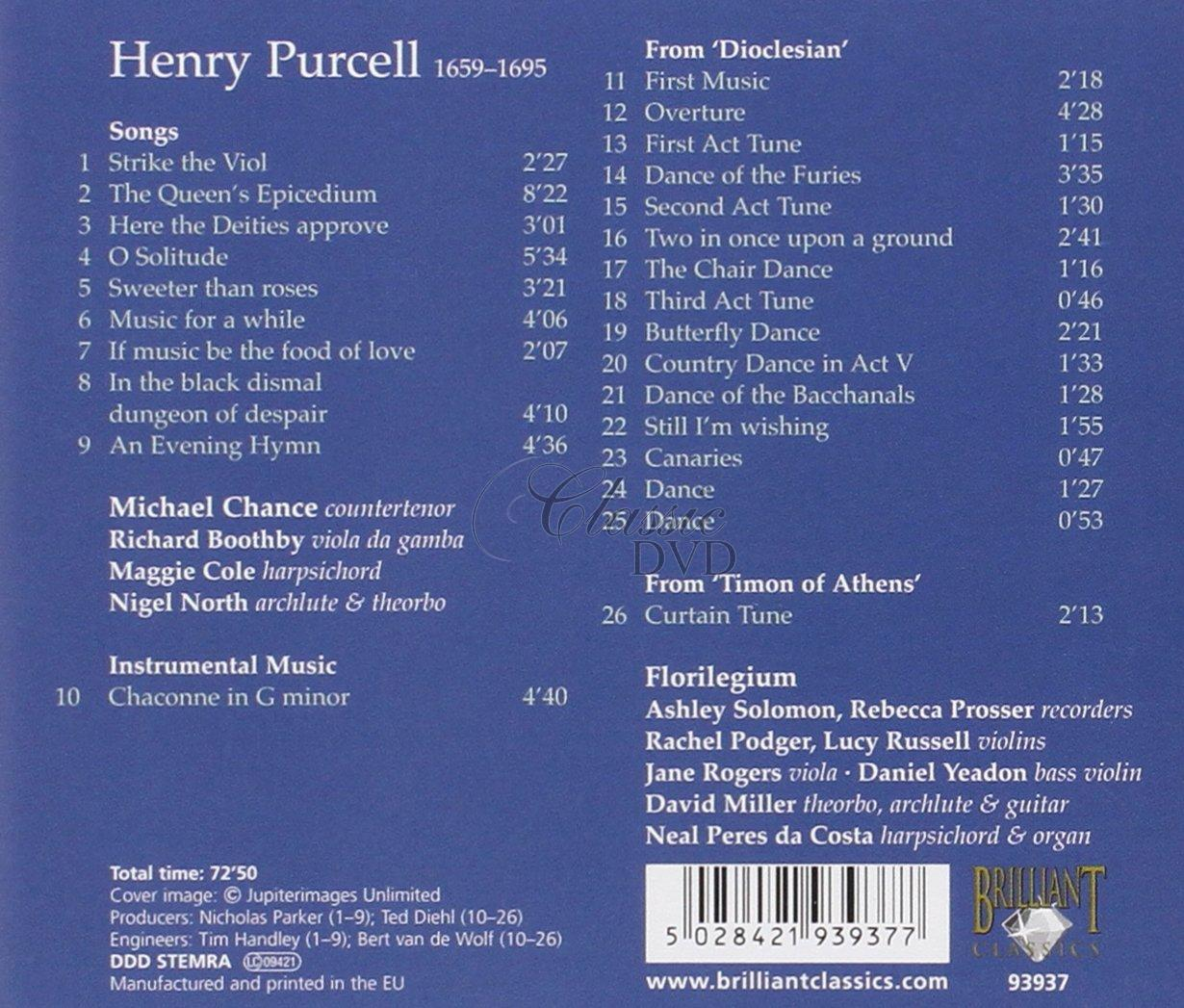 PURCELL,H.: Songs (CD)