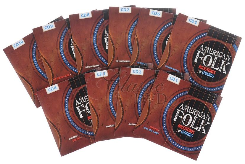 AMERICAN FOLK - Milestones of Legends (10CD)