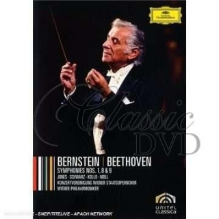 BEETHOVEN - Beeth.Cycle I/Symf.1,8,9. Bernstein/Wph (DVD)