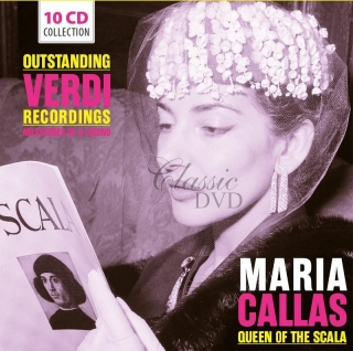 MARIA CALLAS: Queen of the Scala - Outstanding Verdi Recordings - SBĚRATELSKÁ EDICE (10CD)