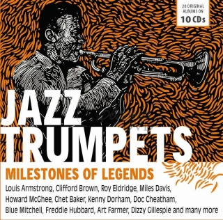 JAZZ TRUMPETS Milestones Of Legends (10CD)