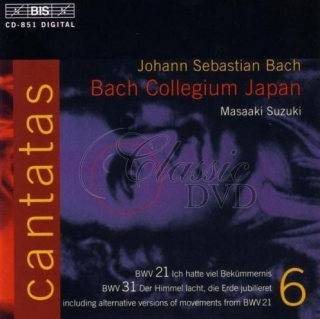 BACH,J.S.: Kantáty Vol.06 (BWV 21, 31) [Bach Collegium] (CD)