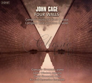 CAGE,J.: Four Walls - Complete works for piano & voice/violin (3CD)